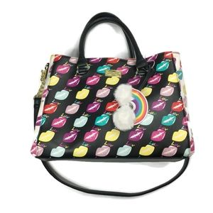 Luv Betsey by Betsey Johnson Rainbow Lips Satchel